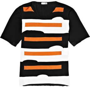 Balenciaga Cotton Blend Striped T-Shirt