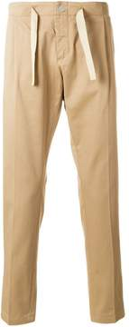 Entre Amis drawstring tapered trousers