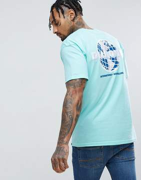 Diamond Supply Co. T-Shirt With Worldwide Back Print in Green