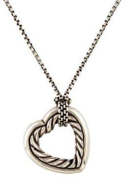 David Yurman Cable Heart Pendant Necklace