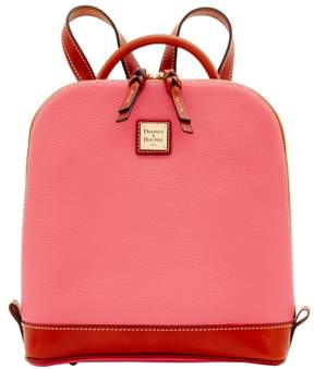 Dooney & Bourke Pebble Grain Zip Pod Backpack - BUBBLE GUM - STYLE