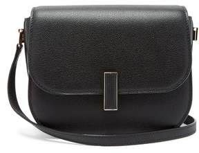 Valextra Iside Cross Body Grained Leather Bag - Womens - Black