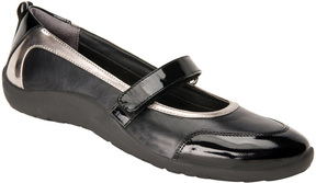 Ros Hommerson Black & Silver Naomi Leather Mary Jane - Women