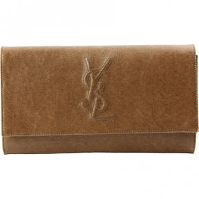 Saint Laurent Pochette Belle de Jour cloth clutch bag - BROWN - STYLE