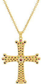Elizabeth Taylor The Simulated Gemstone Cross Pendant w/Chain