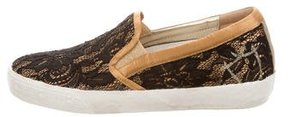 Philippe Model Lace Slip On-Sneakers