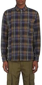 Public School Men's Plaid Cotton Button-Down Shirt