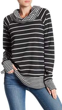 Cable & Gauge Cowl Neck Stripe Pullover