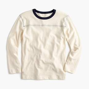 J.Crew Boys' long-sleeve T-shirt with contrast stitching