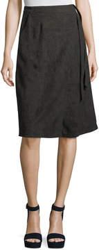 Astr Harriet Faux-Suede Wrap Skirt