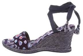 Chanel Wrap-Around Printed Espadrilles