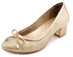 Giani Bernini Pita Women Pointed Toe Synthetic Gold Heels.