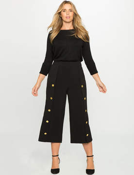 ELOQUII Wide Leg Button Culottes