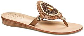 Jack Rogers Women's Gisele Leather Thong Sandals