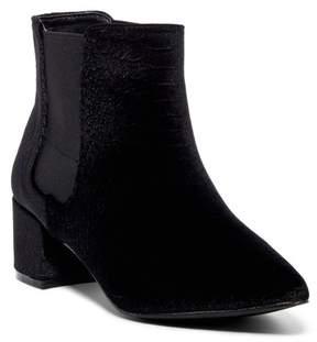 Fergie Sandy Snake Embossed Velvet Boot
