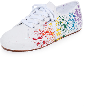 Superga 2750 Leather Splatter Paint Sneakers