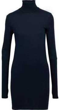 Enza Costa Cotton And Cashmere-Blend Turtleneck Mini Dress