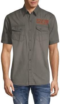 Affliction Men's Prospect Embroidered Cotton Shirt