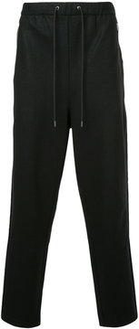 EN ROUTE straight-leg drawstring trousers