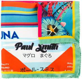 Paul Smith Tuna print scarf