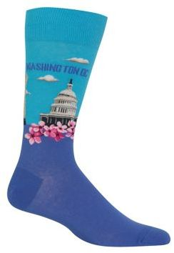 Hot Sox Blue Washington Socks
