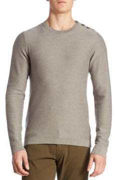 Ralph Lauren Float Button-Shoulder Cashmere Sweater