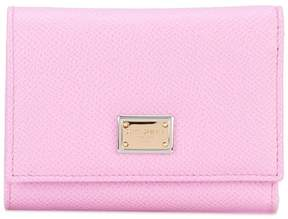 Dolce & Gabbana small Dauphine leather wallet - PINK & PURPLE - STYLE
