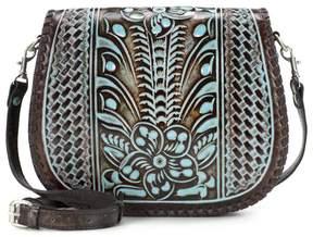 Patricia Nash Savini Tooled Leather Saddle Bag