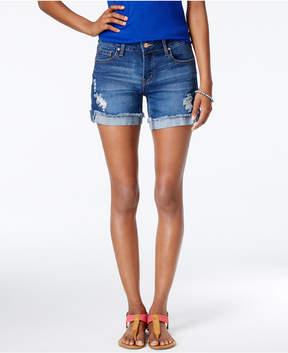 Celebrity Pink Juniors' 5 Cuffed Denim Shorts