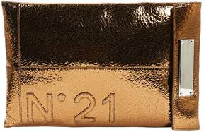 N°21 N21 Brown Patent leather Clutch Bag