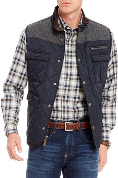 Daniel Cremieux Grant Fleece Lined Full-Zip Quilted Vest