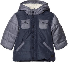 Absorba Blue Denim and Nylon Padded Coat with Fleece Lining