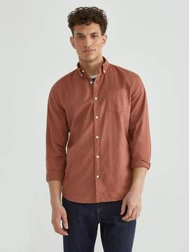 Frank and Oak The Paolo Garment Dyed Soft Oxford in Rustic Brown