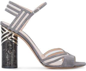 Nicholas Kirkwood Grey Suede Zaha 105 sandals