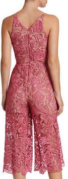 Dress the Population Marion Lace Illusion Culottes Jumpsuit