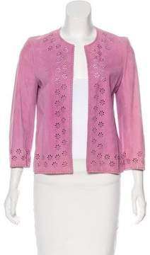 Celine Leather Laser Cut Jacket