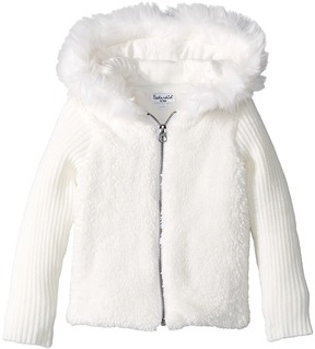 Splendid Littles Faux Fur Sherpa Hoodie Jacket Girl's Coat