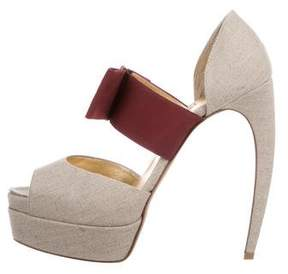 Walter Steiger Canvas Platform Pumps