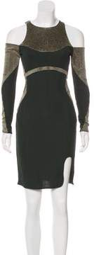 Esteban Cortazar Cold Shoulder Knee-Length Dress