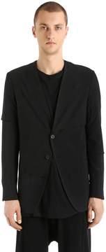 Isabel Benenato Layered Viscose & Wool Jacket