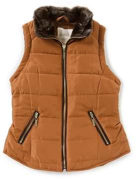 Copper Key Big Girls 7-16 Quilted Zip-Front Vest