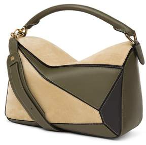 Loewe Puzzle Bag Gold/Military Green/Black