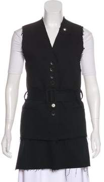 Damir Doma Belted Distressed Vest w/ Tags