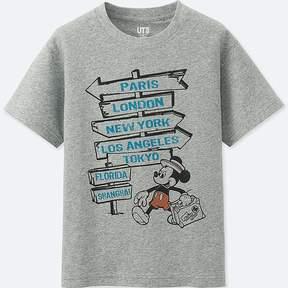Uniqlo Boy's Mickey Travels Short-sleeve Graphic T-Shirt