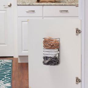 HOUSEHOLD ESSENTIALS Household Essentials Cabinet Door Trash Bag Organizer Dispenser