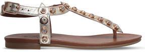 Carvela Kave embellished metallic leather sandals