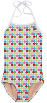 Toobydoo Happy Dots One-Piece Swimsuit (Toddler, Little Girls, & Big Girls)