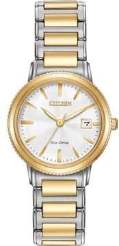 Citizen Silhouette Sport EW2374-56A Two-Tone Analog Eco-Drive Women's Watch