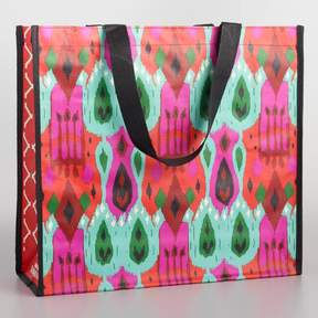 World Market Pink Ikat Tote Bag