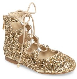 Sam Edelman Girl's Felicia Stella Ghillie Glitter Flat